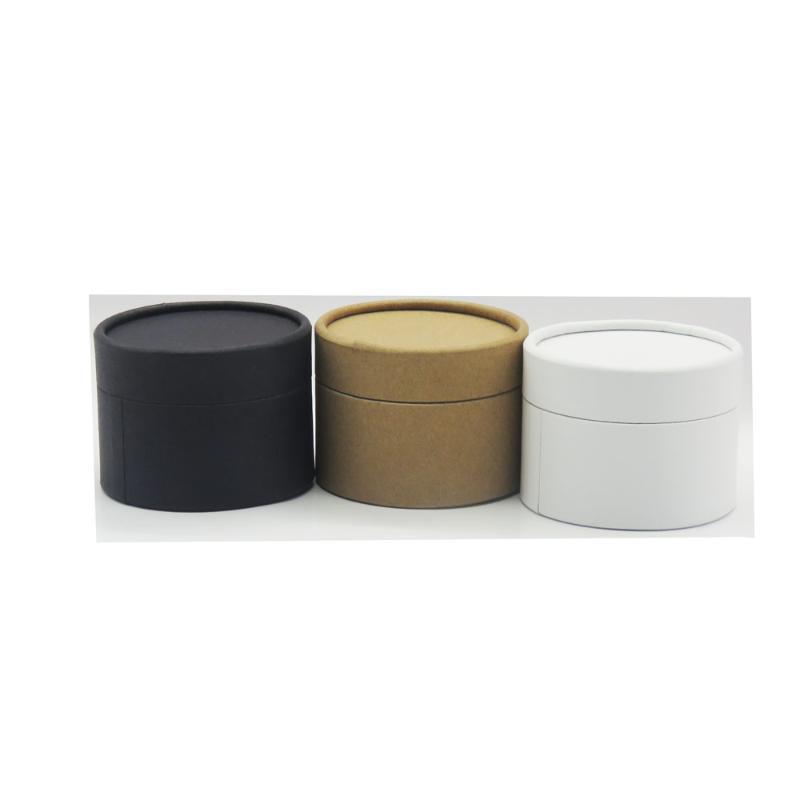 weiß schwarz Kraftrundzylinder kosmetische Whiskyflasche Verpackungskarton Papiertubus