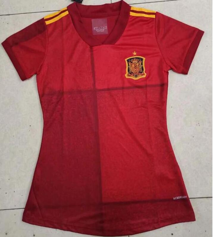 Jerseys 2020 Copa España Home Soccer Jersey 20/21 Camisa de fútbol de señora España Inicio Cámaras de fútbol rojo Uniforme de fútbol