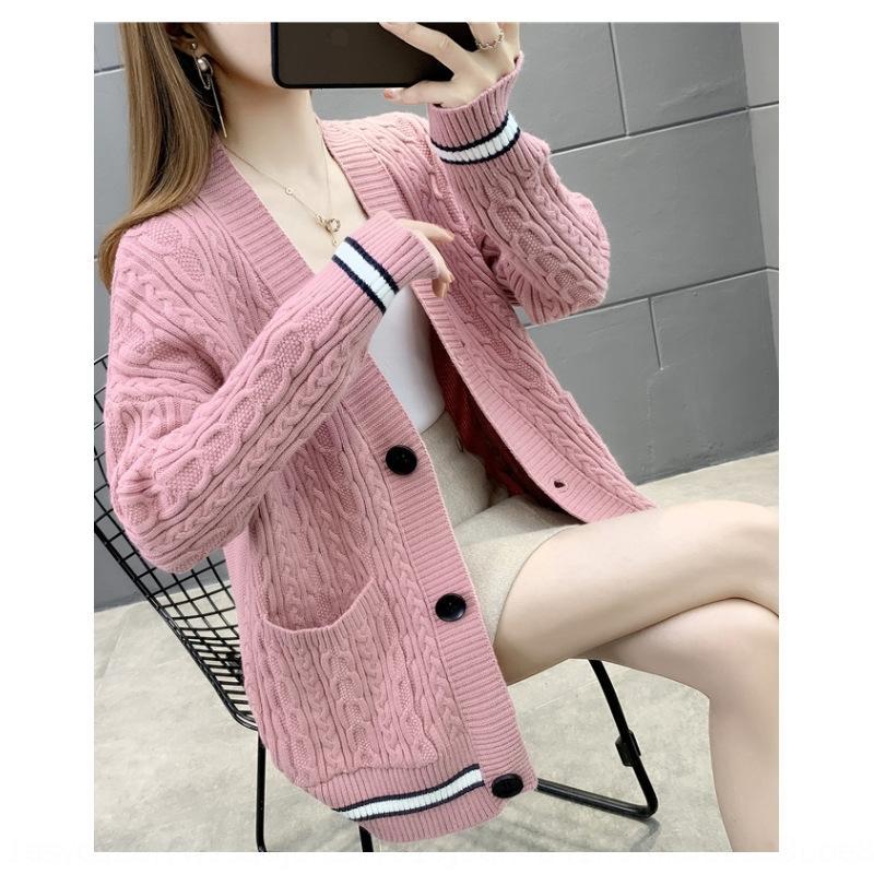 a2TPT autunno inverno ricoprono maglione maglietta petto nuovo singolo Maglia maniche 2020 maglietta allentata coreana sottile e cardigan lungo tuta sportiva di modo