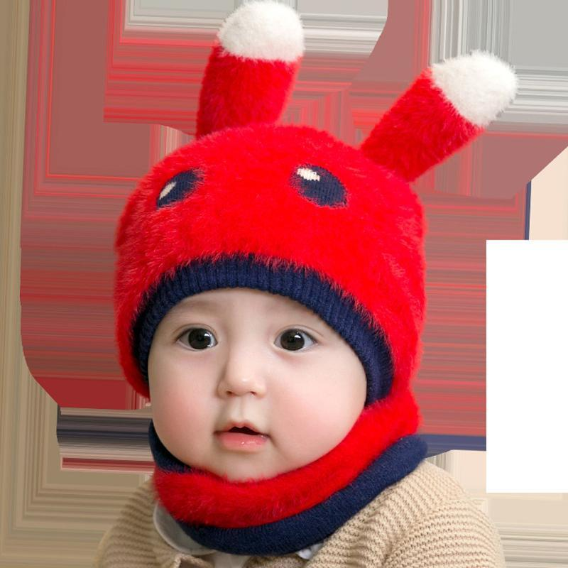 bébé chapeau bébé Cartoon oreille Garçon Fille Enfants Lovely doux Chapeau d'hiver + deux pièces Ensemble nouveau-né Photographie Props