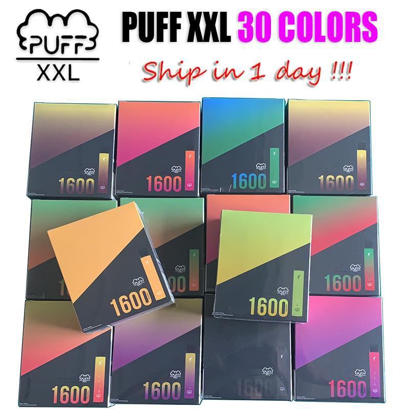 SOUFFLE XXL à usage unique Vape dispositif Pen Pod 1600 PUFFS 30 couleurs Avaliable prérempli Vapeurs CIGS E Cigarettes système portable Starter Kit