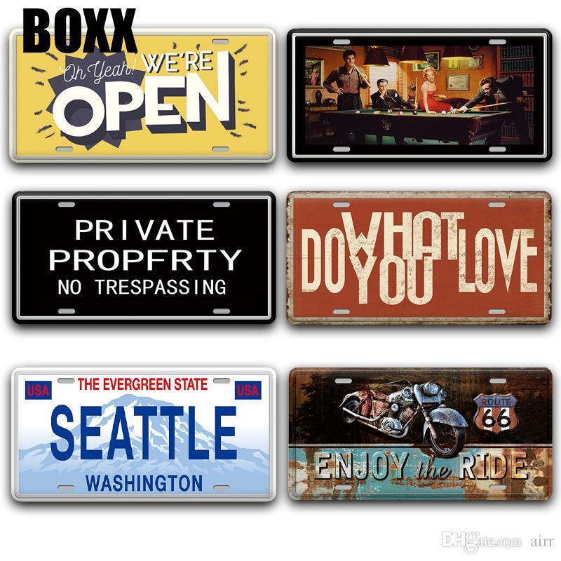 Segno Back Off aperto portello del metallo d'epoca in rilievo Birra targa Bar Home Decor Shabby Chic Seattle USA Francia Italia Segni