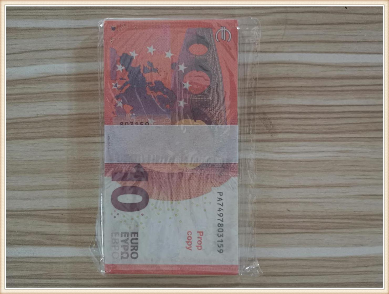 016 Simulation of Euro 10 Euro Fake Banknotes, Toy Bar, Film and Television Shooting Props, Dollar Practice Banknote Game Token
