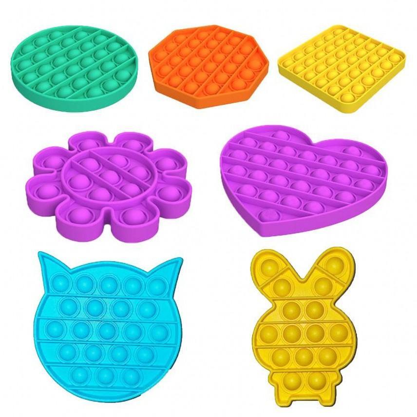 Didget Toy Sensosory Push Bubble Fidget Сенсорная игрушка Декомпрессионная игрушка Аутизм Беспорядка Стресс Обращение для детей взрослых