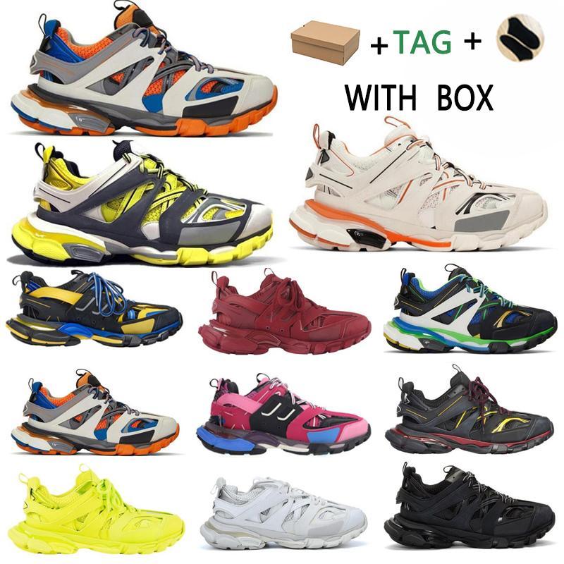 2020 جديد رخيصة باريس 3.0 المسار sptle s clunky حذاء رمادي البيج البرتقالي الأزرق تحديث النسخة مصمم الرياضة رياضة حجم 36-45 K96