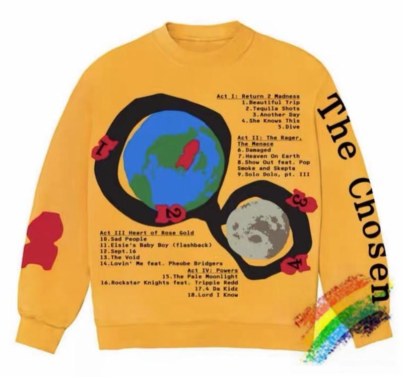 Impression moussante Beaux Sweatshirts Hommes Femmes 1 Haute Qualité Sweat à capuche Crewneck surdimensionnée