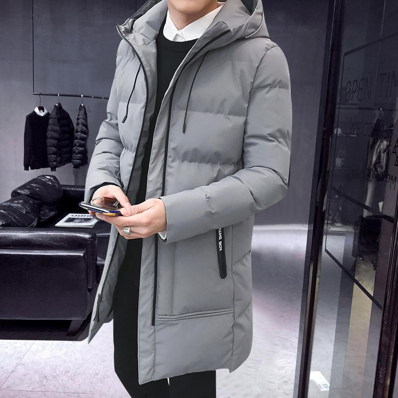 Parka Trench Winter Hooded Cappuccio Staccabile Uomo Addensare Warm Big Size Giacca Puffy Nuovo Zip Streetwear Vintage Anorak KK60MF