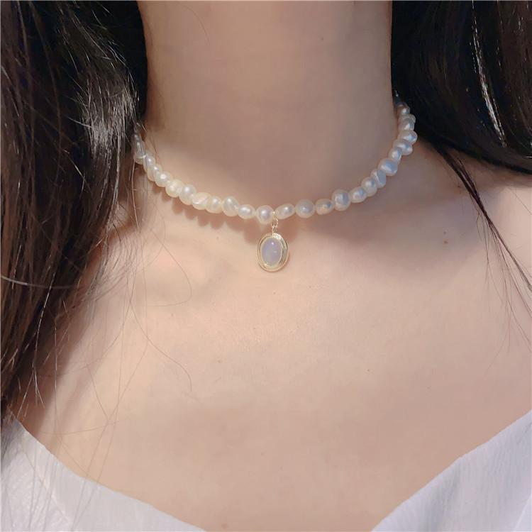 High Quality Women Pearl Chain Pendant Necklace Rhinestone Orbit Pendant Necklace for Gift Party Fashion Jewelry Accessories FY8139
