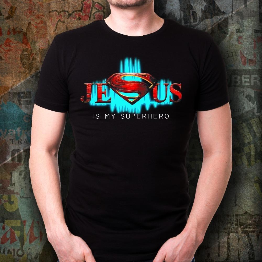 Regalos de superhéroes Jesús Mujeres Cristianas Dios Fe Cristo la nueva manera de la marca del verano Graphic Tees Sport Sudadera con capucha camiseta