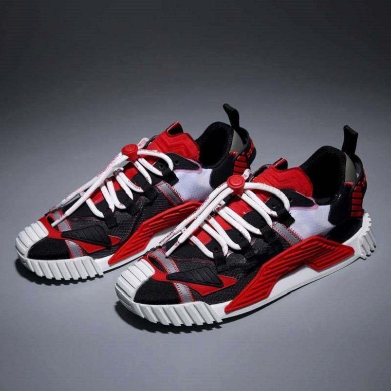 Moda Best Top Quality Real Leather Handmade Multicolor Gradient Sneakers Tecnici Sneakers Uomo Donna Scarpe famose Scarpe Shoe02 03