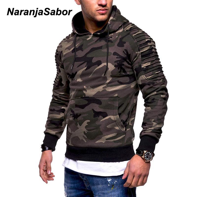 NaranjaSabor Men's Hoodies Autumn Sportswear Long Sleeve Camouflage Hooded Shirt Mens Brand Clothing Male Casual Sweatshirt N540 Q0105