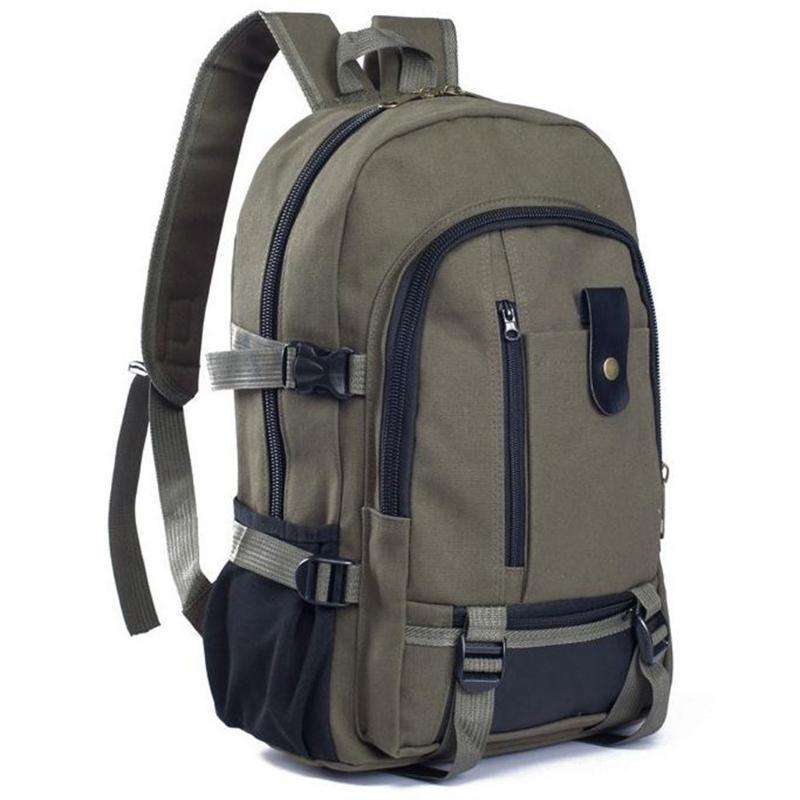 Unisex Açık Spor Taktik tırmanma Çanta Moda Basit çift Omuz Tuval Sırt Çantası Schoolbag Sıcak Seyahat Çantası