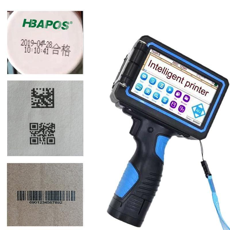 Portable Handheld Thermal Inkjet Printer 12.7mm/25.4mm/50.8mm Variable QR Bar Batch Code Date Number Logo Expiry Print Machine