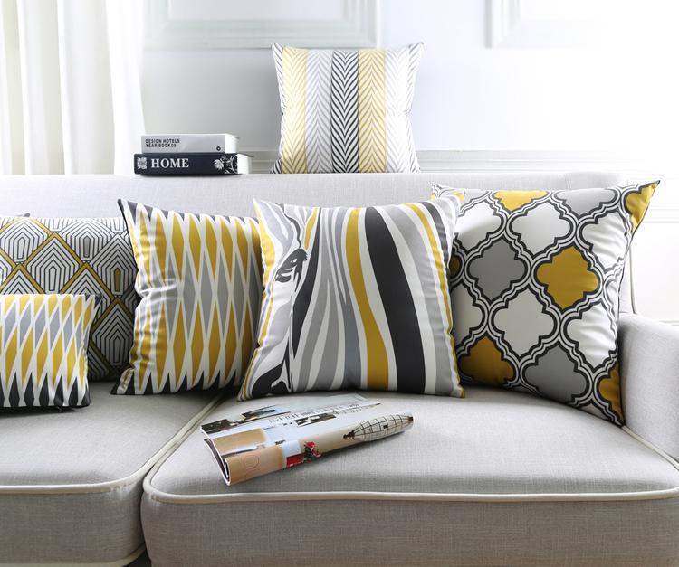 Rombo geométrica del modelo del azulejo Marruecos fundas de cojines nórdica cebra raya Mantas Cojín decorativo de terciopelo caja de la almohadilla del sofá silla para