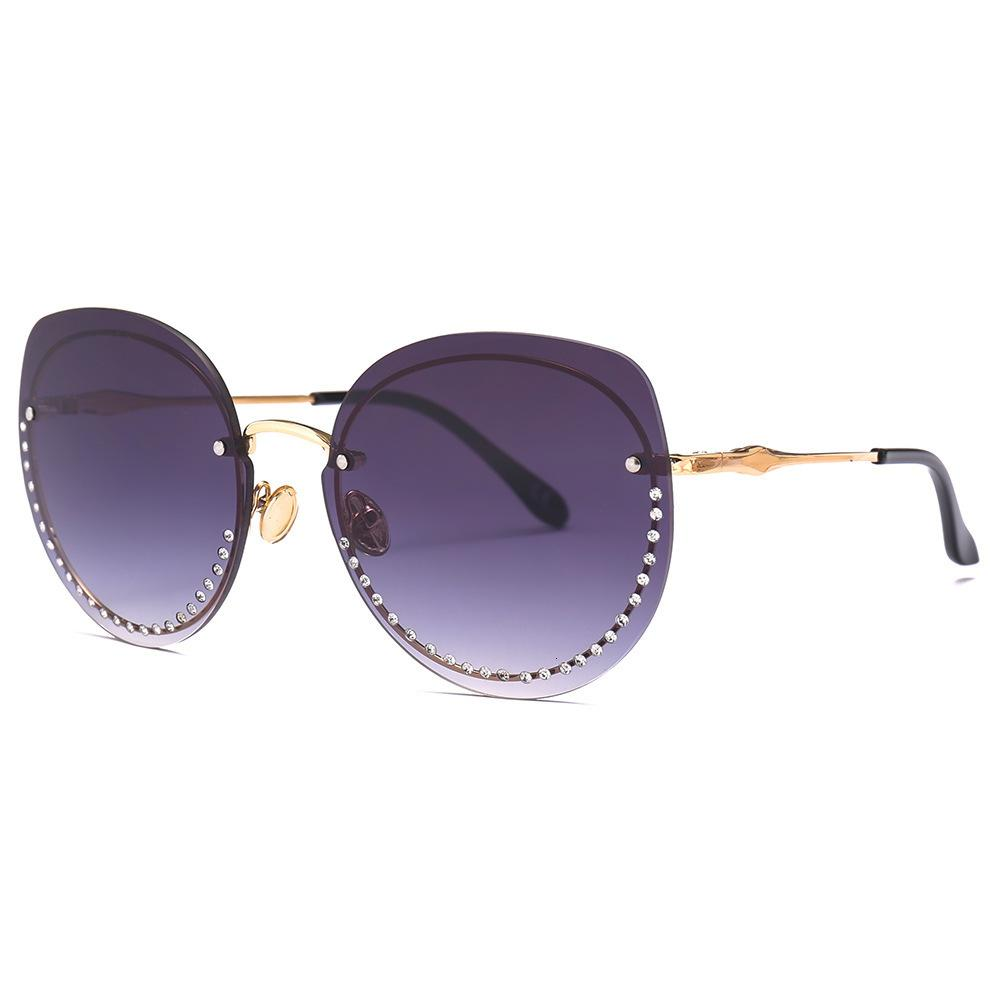 Moda retrò FML Gold Eyewear per Diamond Driving Donne di grandi dimensioni Occhiali da sole Occhiali da sole Glasses QDJNA