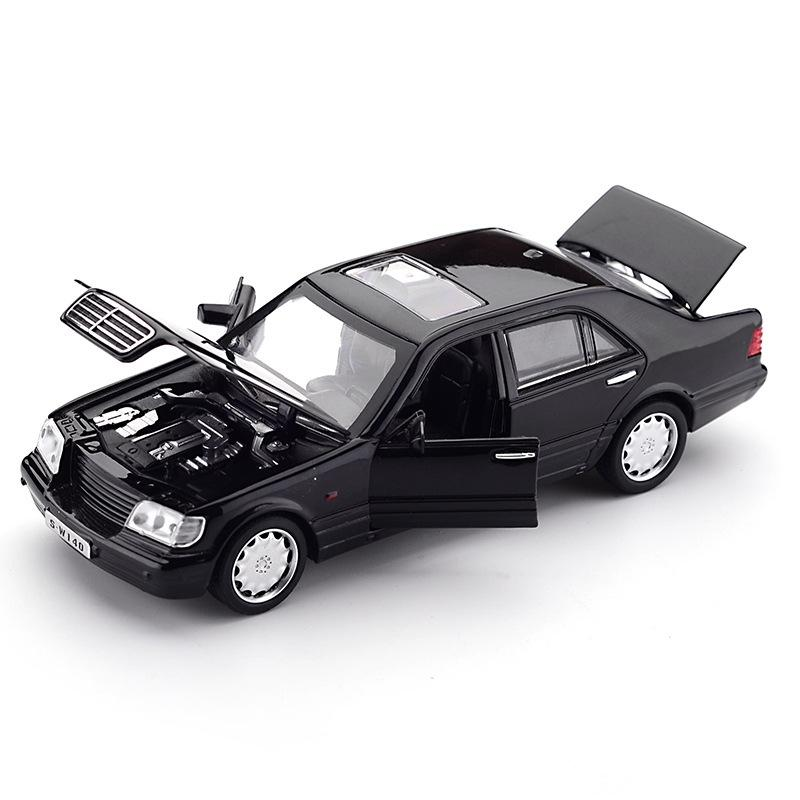 Zhenwei Mercedes-Benz S W140 1:32 Liga Modelo Modelo Som Sound Pull-Back Light Light Liga Liga Modelo de Veículo Brinquedos para Crianças Y200109