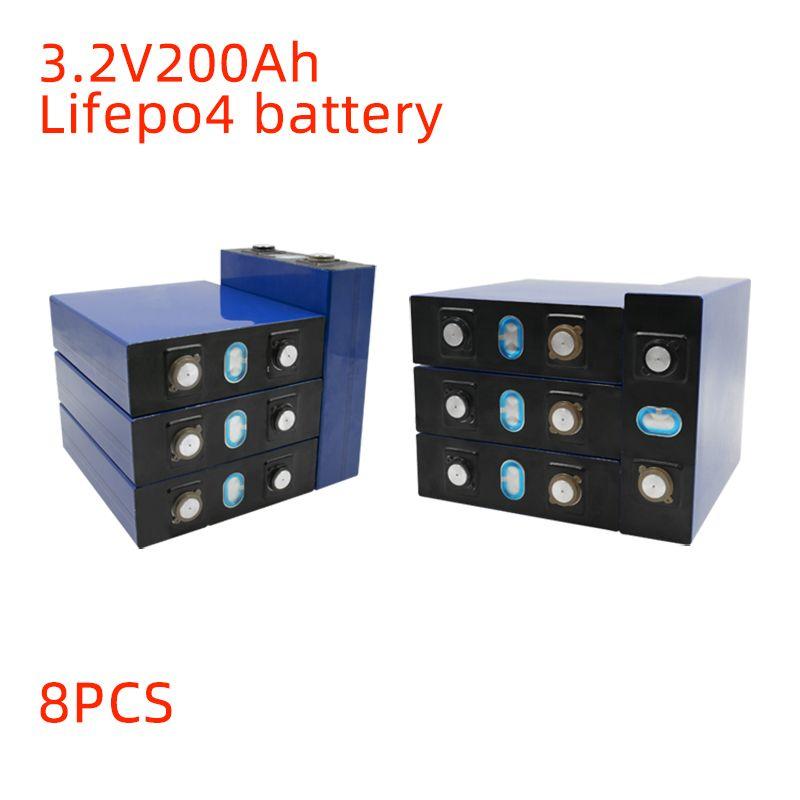 8pcs Yeni LiFePO4 3,2V 200Ah Akü ile Busbarlar İçin 24V 200Ah Pil paketi