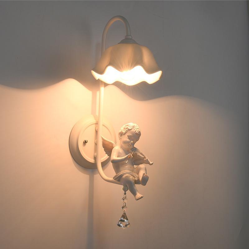 Lámpara de pared LED moderna Lámpara de pared Lámpara de niños Apliques Nordic Lighting Dormitorio Lámparas Oficina de boda LED Luces de pared de noche E27