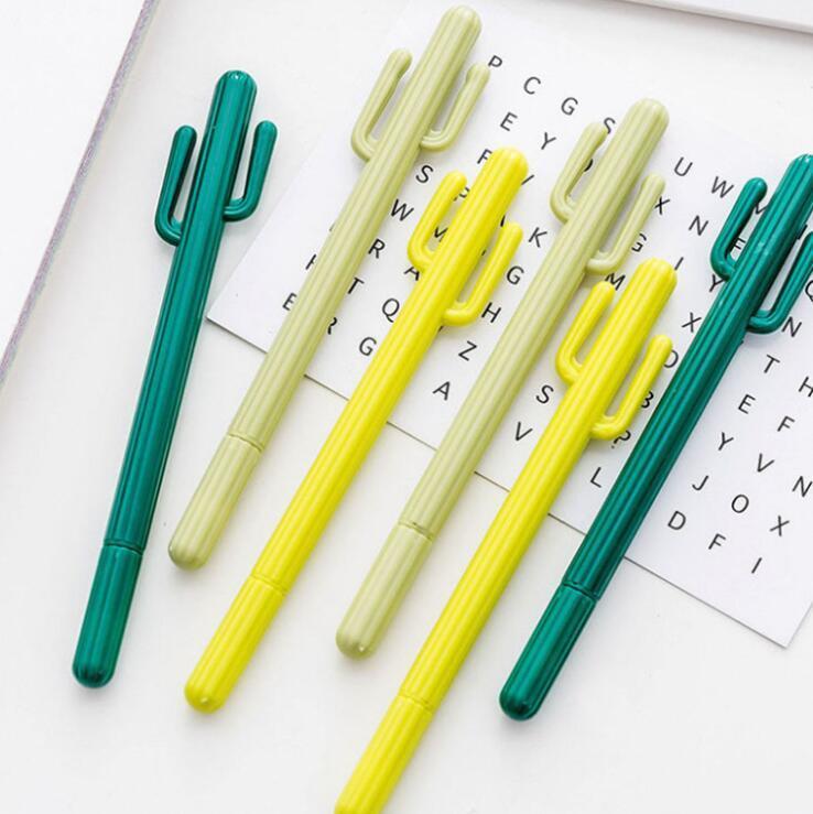 كوريا جل أقلام المبدعة الصغيرة الصحراء رولربال القلم الصبار التصميم القلم الكرتون لطيف جل القلم الطلابية جائزة الجنوبية القرطاسية LSK1641