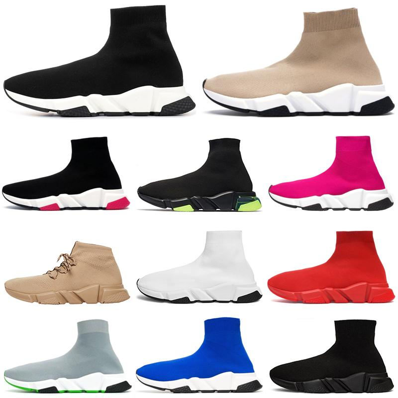 çorap ayakkabı erkekler kadınların spor ayakkabı hız eğitmen Graffiti siyah, kırmızı, beyaz Clearsole voltluk bej ayakkabı bağı mens moda açık bir platform gündelik ayakkabı