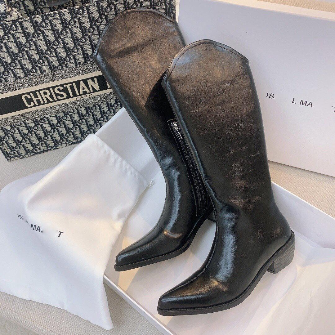 Designer Herren und Damen Schuhe Casual Herbst und Winter Classic Mode-Bestseller-Stiefel Schwarz Spitzschuh Trendy Cool schönen Stil Knigh