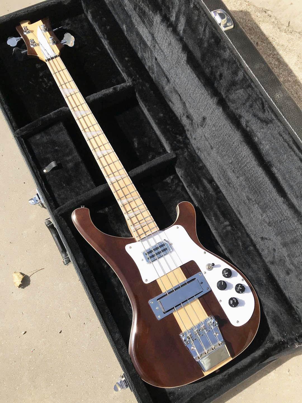 4003W Natural Walnut Bass 4 Corde Bass Body Walnut Body Vintage RIC 4003 Electric Bass Guitar Neck Thru Body