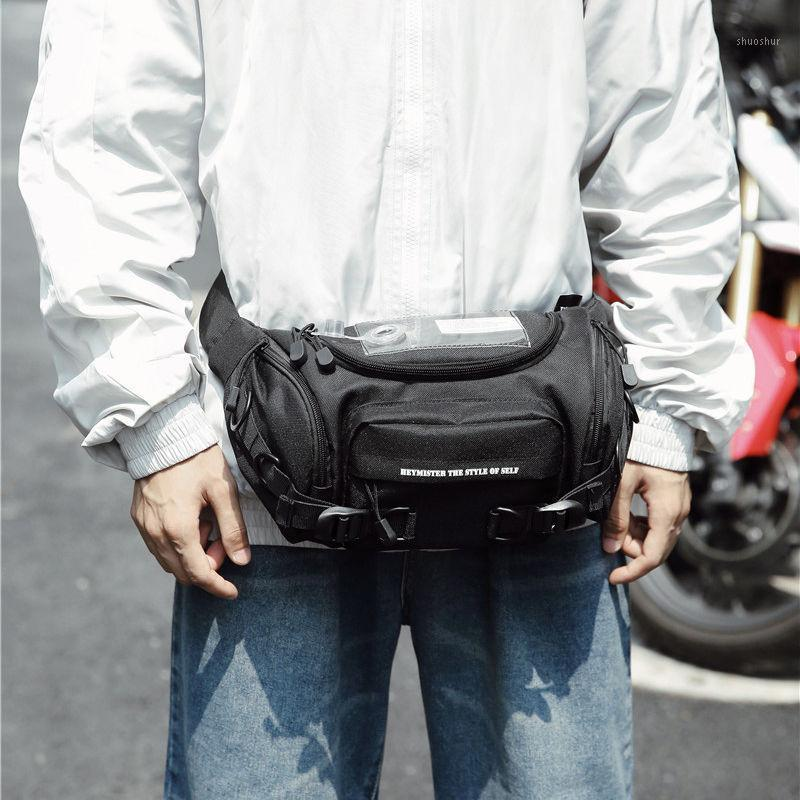 Grande pacote de peito homens fanny pack negro saco de cintura fresco multifuncional banana bumbag grande capacidade na moda do telefone japonês casual
