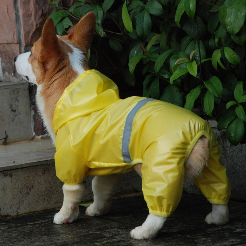 Perro mascota impermeable impermeable impermeable jumpsuit reflexivo lluvia abrigo sol protector solar ropa al aire libre ropa para el perro pequeño perro mascota jllyug