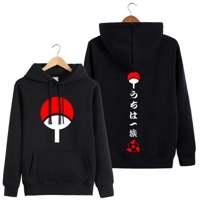 Harajuku Erkek / kadın 3D Naruto afiş kapüşonlu sweatshirt İlkbahar Sonbahar Erkek / bayan Komik Kapüşonlular siyah Cuma Y201006