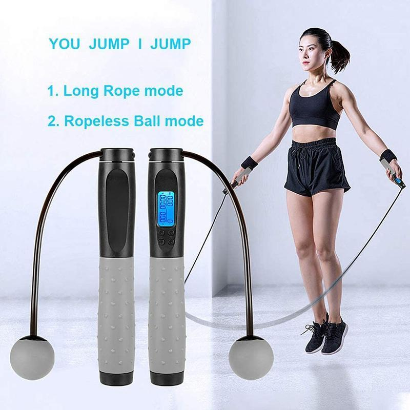 Jump Ropes ARRIVAL-Jump With Calorie Counter Adjustable Digital Counting Rope For Fitness Training Exercise Workout