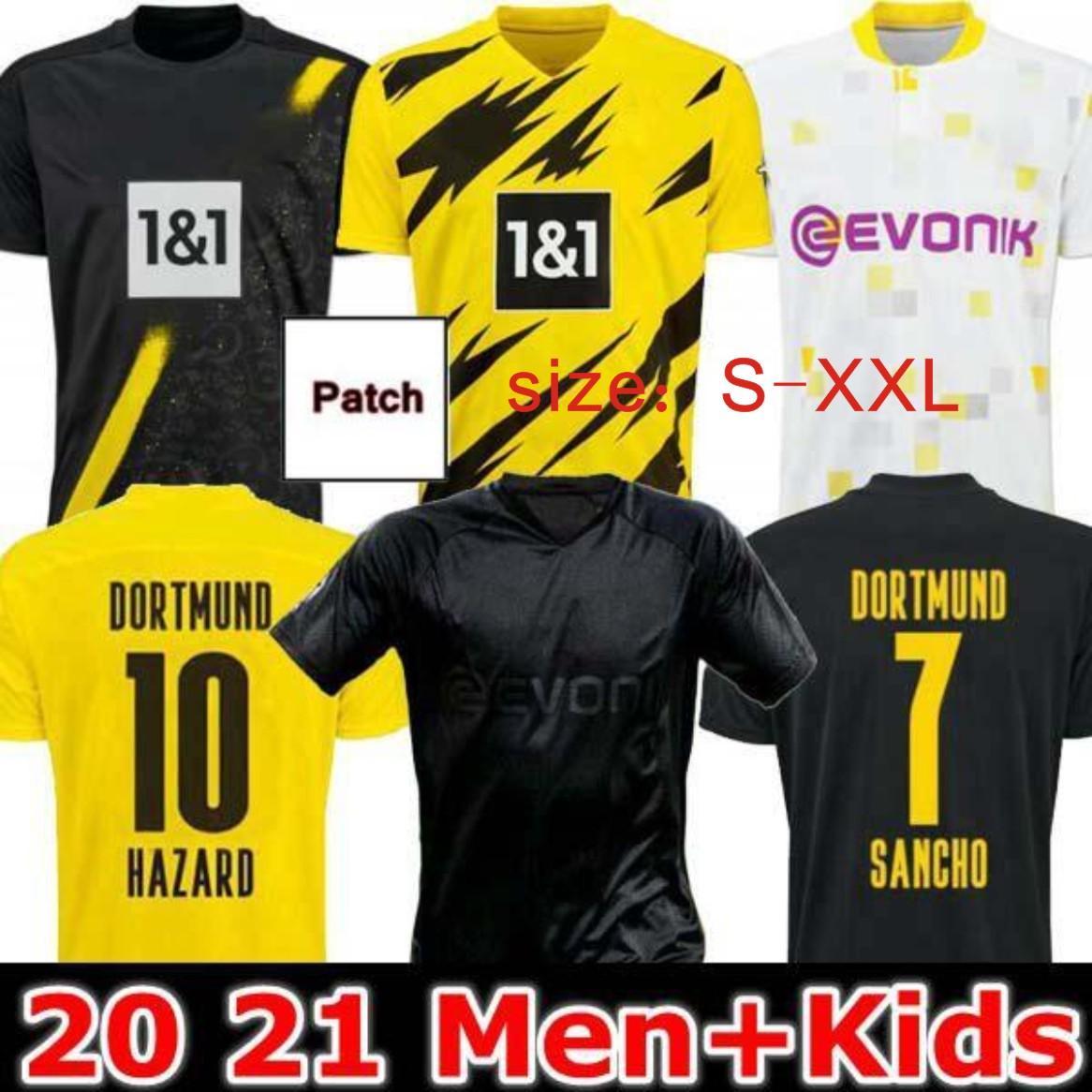 Fútbol Jersey 19 20 21 Borussia Reus Guerreiro Jerseys Soccer 2019 2020 Blackout Sancho Hummels Haaland Sport Shirt 2020 Brandt
