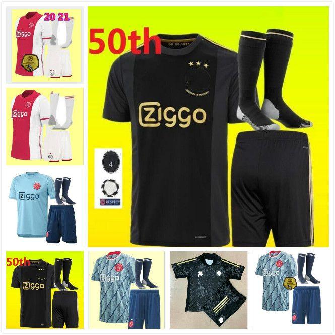 20 21 AJAX adult kids soccer jersey kits 2020 PROMES ALVAREZ TADIC NERES ZIYECH BEEK football shirt men boys Full sets uniforms