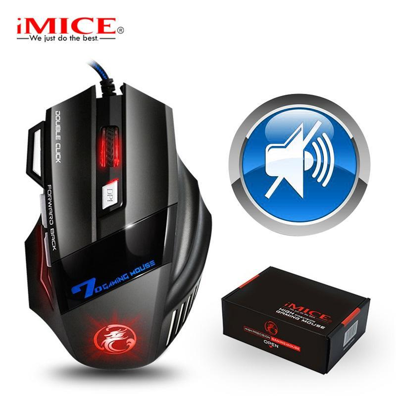 Gaming Mouse Gamer 7 Button 5500DPI Wired Ergonomic Mouse Led Mause Computer Silent USB PC Mice with Backlight for Laptop