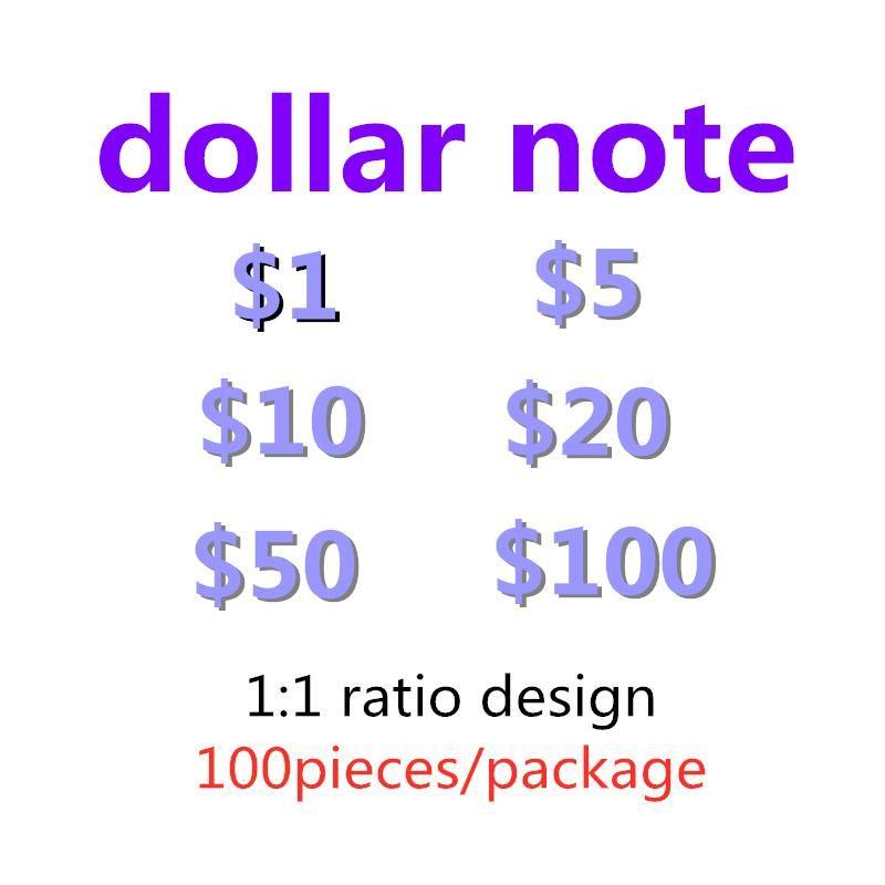 Nouvelles collections Jeux Chauts Ventes Money Jouets Money Films Dollars Comptage Papier Faux De Note Note Dollar US Prop Festive Cadeaux-G9 RGGII