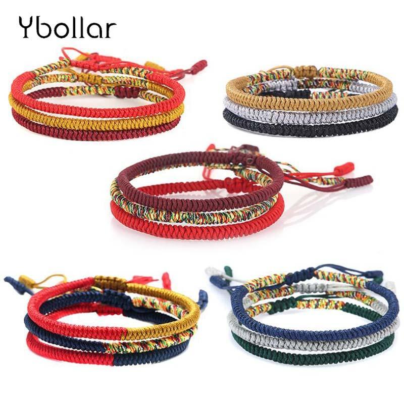 Бисером, пряди 1шт веревочка браслет ручной работы сплетенные плетеные буддийские узлы тонкая струна прядью дружбы мужчины вот
