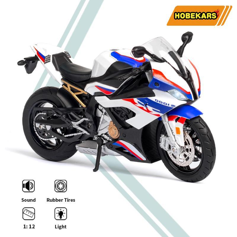 HBEKAARS 1:12 Diecast Motosiklet Model Oyuncak S1000RR Simülasyon Superbike Yarış Motosiklet Dekorasyon Koleksiyonu Çocuklar için Giftsq1221