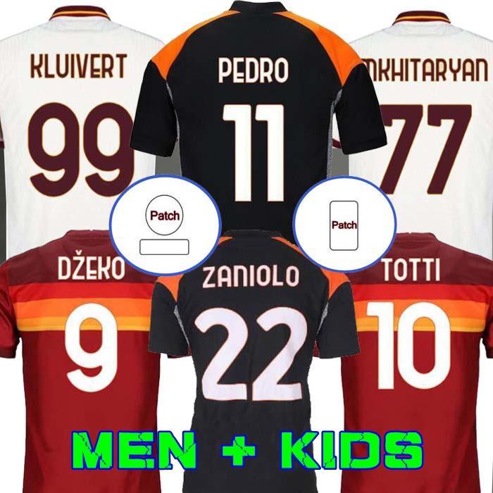 كرة القدم الفانيلة Roma de Rossi Dzeko Zaniolo Totti Perotti Pedro 20 21 كرة القدم قميص 2020 2021 الرجال الاطفال كيت زي مايور