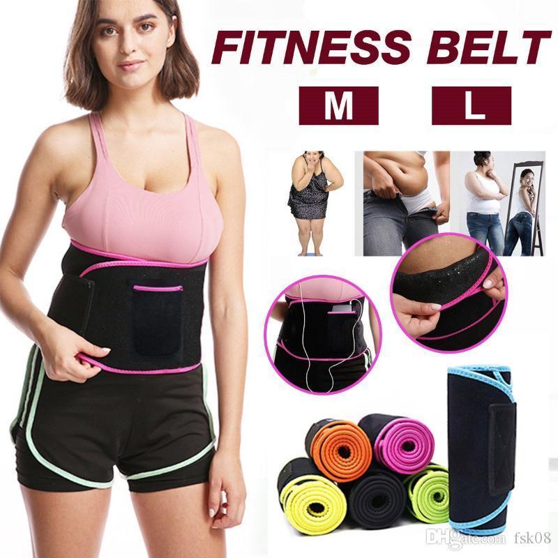 Fashion Fitness Belt Hot Power Slimming Belt Body Back Support Waist Trainer Trimmer for Sport Gym Fitness Tummy Slim Belts