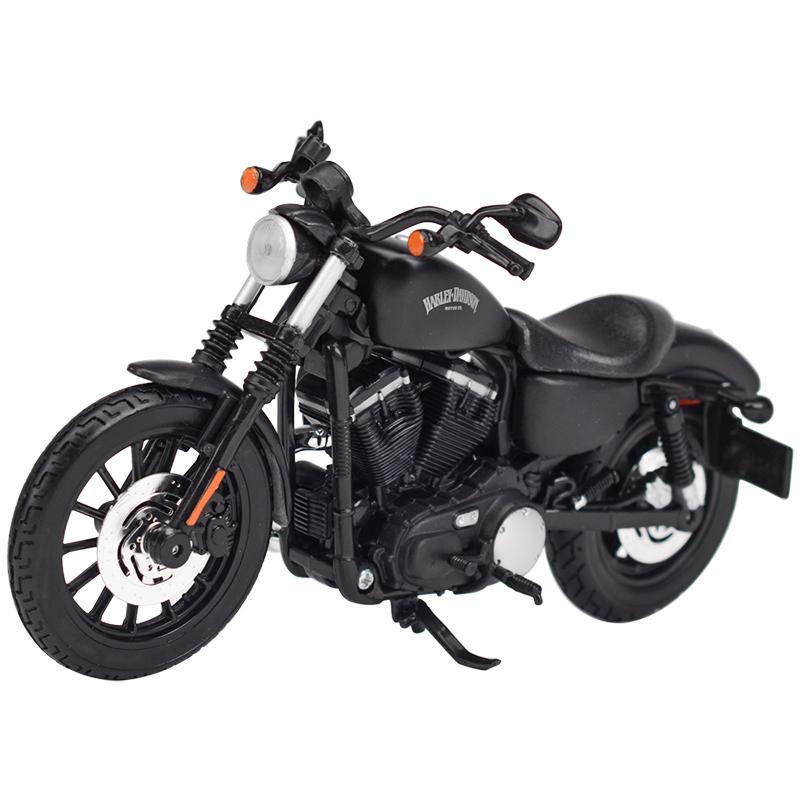 Maisto 1:12 2014 Sportster Iron 883 Dyna Street Glide Road King Cvo Breakout Electra Glide Diecast Aleoy Motocicleta Modelo de juguete 210128