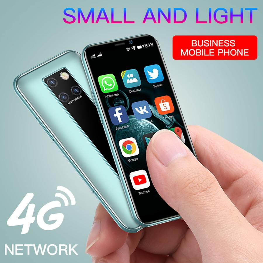 Lüks Soya S10-H Süper Mini 4G LTE Cep Telefonu Yüz ID MTK6739 Dört Çekirdekli 3.5 inç HD Ekran Smartphone 3 GB 64 GB Android 9.0 Cep Telefonu