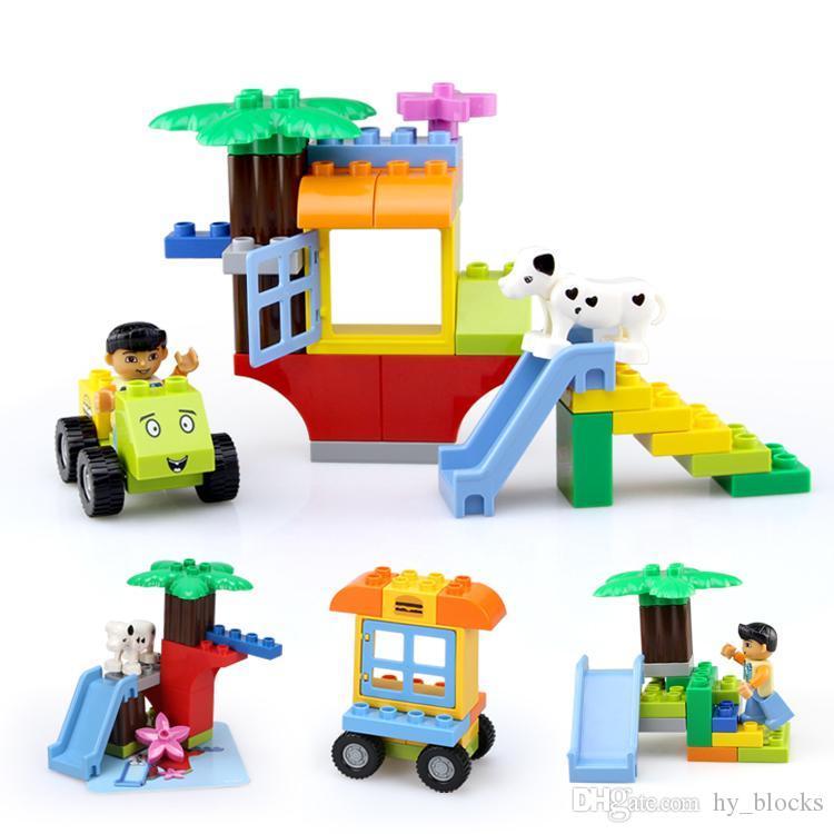 4Styles ранние игрушечные блоки частицы игрушки крупные дети животных подарок кукольный дом веселье для детского интеллекта творческое здание образования OCSCO