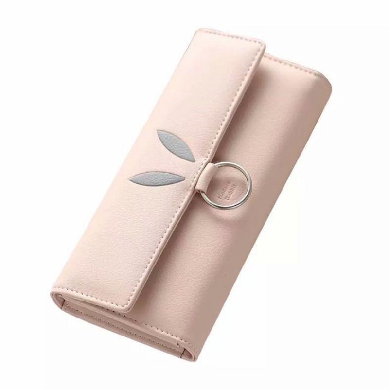 Nuova femmina Pu coniglio Tre pieghe e un portafoglio lungo con donna di grandi capacità Lady Bag del telefono mobile libera di Shippin