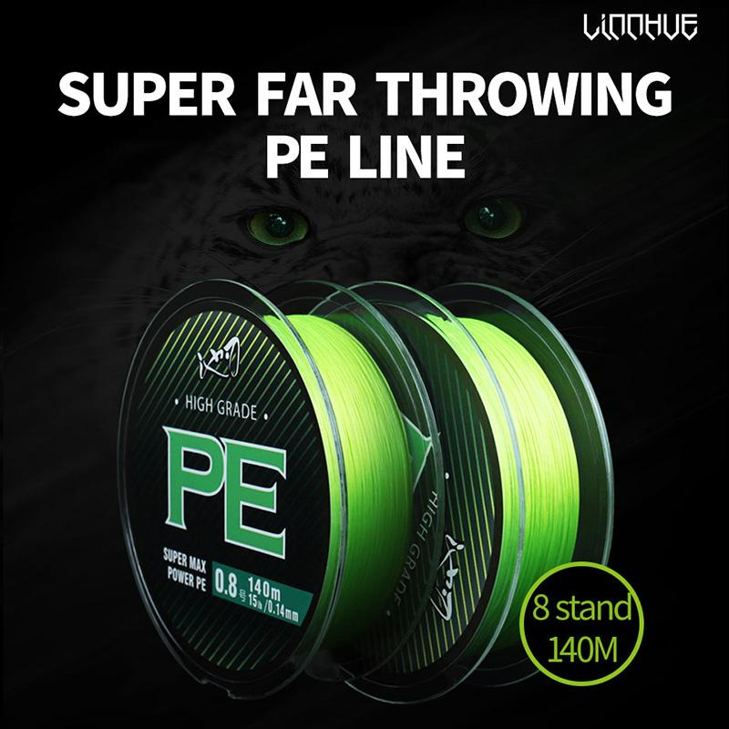 Braid WX8 Fishing Line 140M 8 Stands Multifulament PE Line 15 18 20 22 28 40 50 60 70LB Wire Carp Fishing Line Smooth