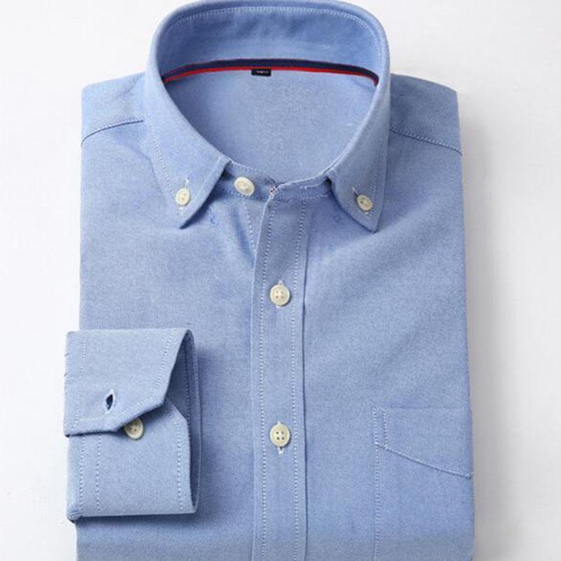 Мужчины с длинным рукавом квадратный воротник хлопчатобумажные бамбуковые волокна рубашки Camisa, Slim Fit One Hardhted Angland стиль осенний весенний носить рубрики1