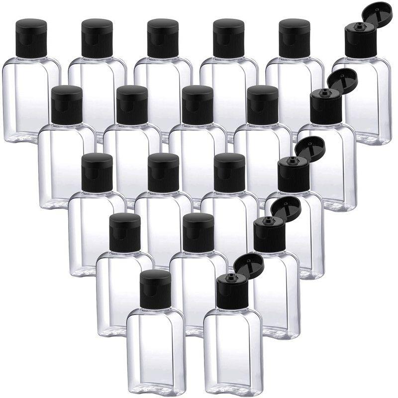 30 мл / 1 унций пустые бутылки с флип-шапкой Путешествия Контейнеры Пустая пластиковая бутылка прозрачные бутылки для путешествий на открытом воздухе