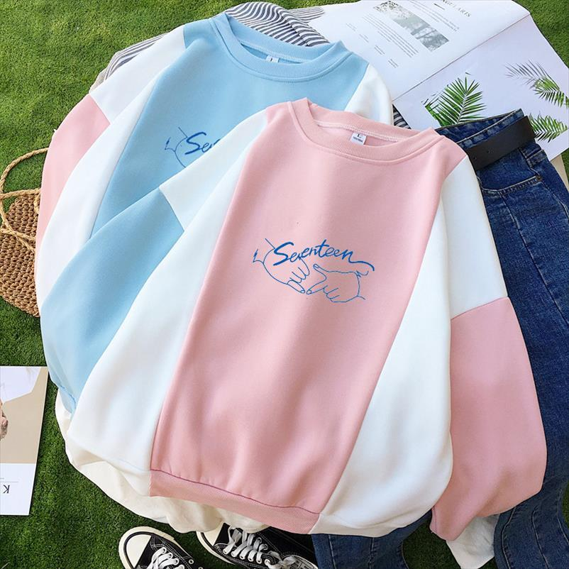 Ídolo ropa got7 hoodie para mujeres otoño invierno diecisiete harajuku sudadera femenina Ullzang invierno tibia sudaderas
