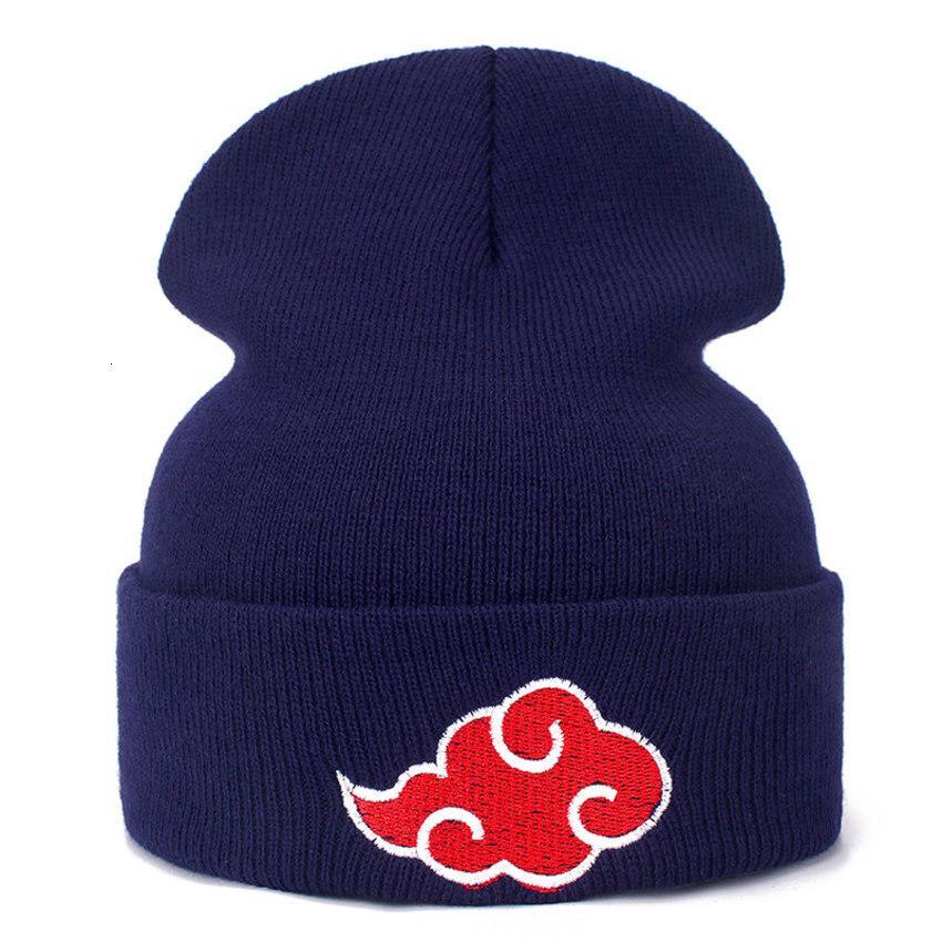 Аниме Японского Акацуки Наруто Повседневные Шапочки для мужчин Женщин Вязаных Winter Solid Color Хипа-хоп Skullies Hat Cap Unisex UD9C