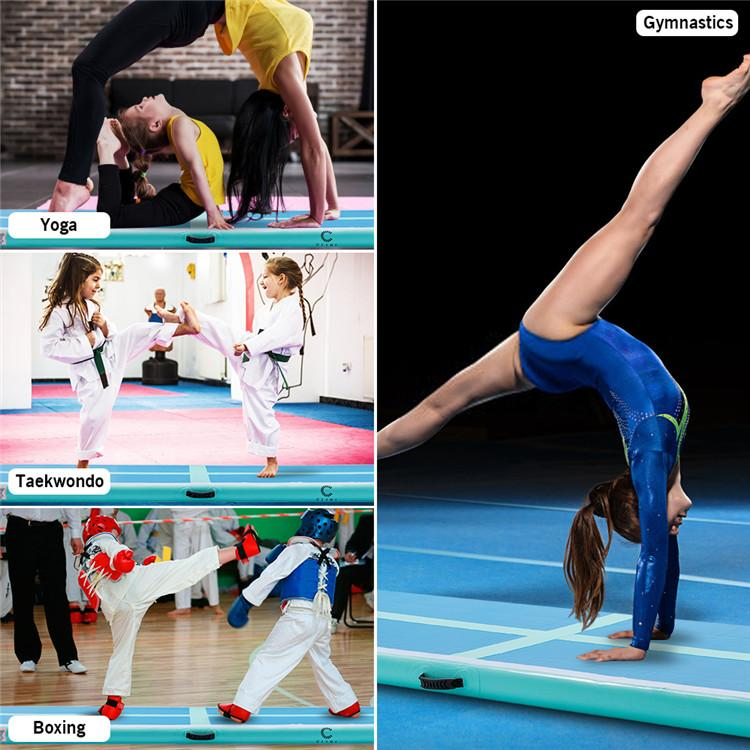 10ft Air Track aufblasbare Gymnastikmatte Air Track Boden Tumbling Mat Kampfsport Cheer Tumble Track for Home Use Trainings W35413482