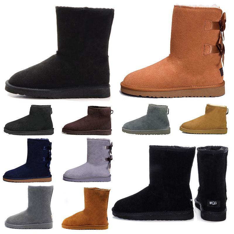 2020 moda kadın botları patik Kestane Yüksek Düşük Siyah Gri Lacivert bayanlar kızlar klasik ayak bileği kısa çizme bayan kar kışlık botlar 5-10