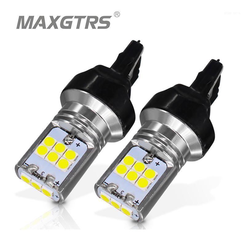 2x T20 7440 W21W Auto Schwanz LED-Licht 3030 Chip-Auto-Bremse-Rückfahrlampe Blinker hinterer Parklampen DRL-Strobe Flash Hyper1